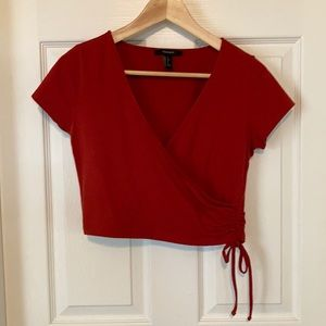 Forever 21 faux wrap crop top